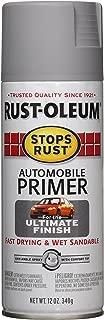 Rust-Oleum 2081830 Stops Rust Automotive Primer Spray Paint, 12 oz, Flat Light Gray