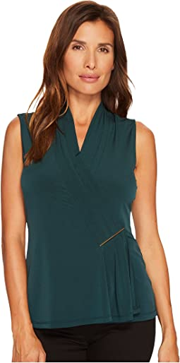 Calvin Klein - Sleeveless Top with Bar Hardware