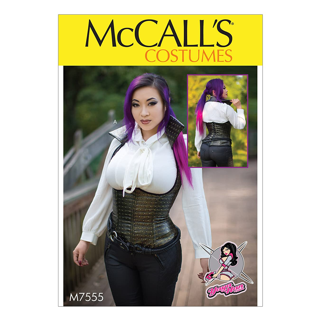 McCall's Patterns M7555E50 Underbust, Corset-Style Vests Sewing Pattern, 14-16-18-20-22