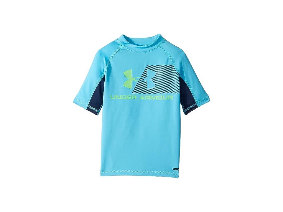 Under Armour Kids H20 Reveal Short Sleeve Rashguard (Big Kids) (Alpine) Boy