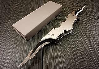 Batman Dark Knight Bat Spring Assisted Open Folding Double Blade Dual Twin 5 Colors Pocket Knife Tactical Belt Clip Desert Digi Camo Silver Blue Red Knives