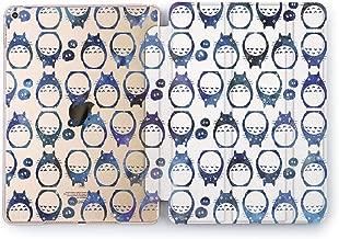 Wonder Wild Neighbor Totoro Apple iPad Pro Case 9.7 11 inch Mini 1 2 3 4 Air 2 10.5 12.9 2018 2017 Design 5th 6th Gen Clear Smart Hard Cover Mythic Creature Hayao Miyazaki Movie Characters Pattern