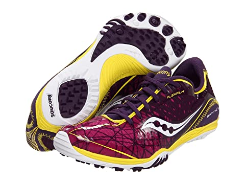 Womens Shoes Saucony Grid Shay XC3 (Flat) Purple/Yellow