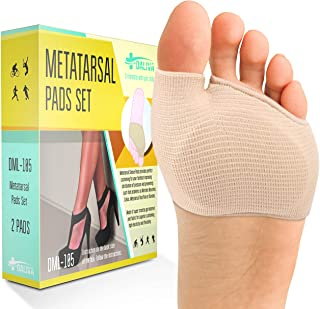 Metatarsal Pads Ball of Foot Cushions - Forefoot Cushions Shoe Inserts for Man & Women - Insoles for Ball of Foot Pain - Pain Relief for Metatarsalgia Morton Neuroma Calluses