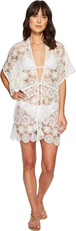 Echo Design - Shell Lace Open Front Caftan