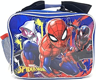Marvel Spiderman Soft Rectangle Lunch Bag with Top Handle and Shoulder Strap