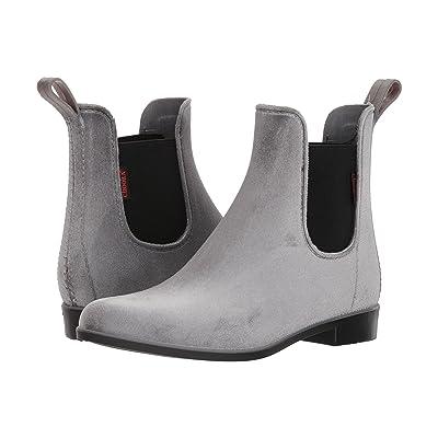Chooka Vivien Velvet Chelsea Boot (Gray) Women