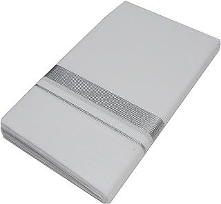 Mcr Men's Cotton Dhoti (Silver, Free Size)
