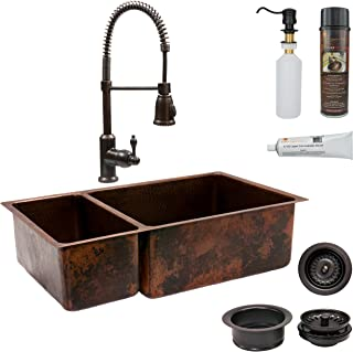 Oil Rubbed Bronze Farmhouse Sink.Amazon Com Bronze Double Bowl Kitchen Sinks Tools