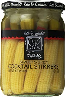 Sable and Rosenfeld Tipsy Cocktail Stirrers, Sweet and Spicy, 16.0 Ounce