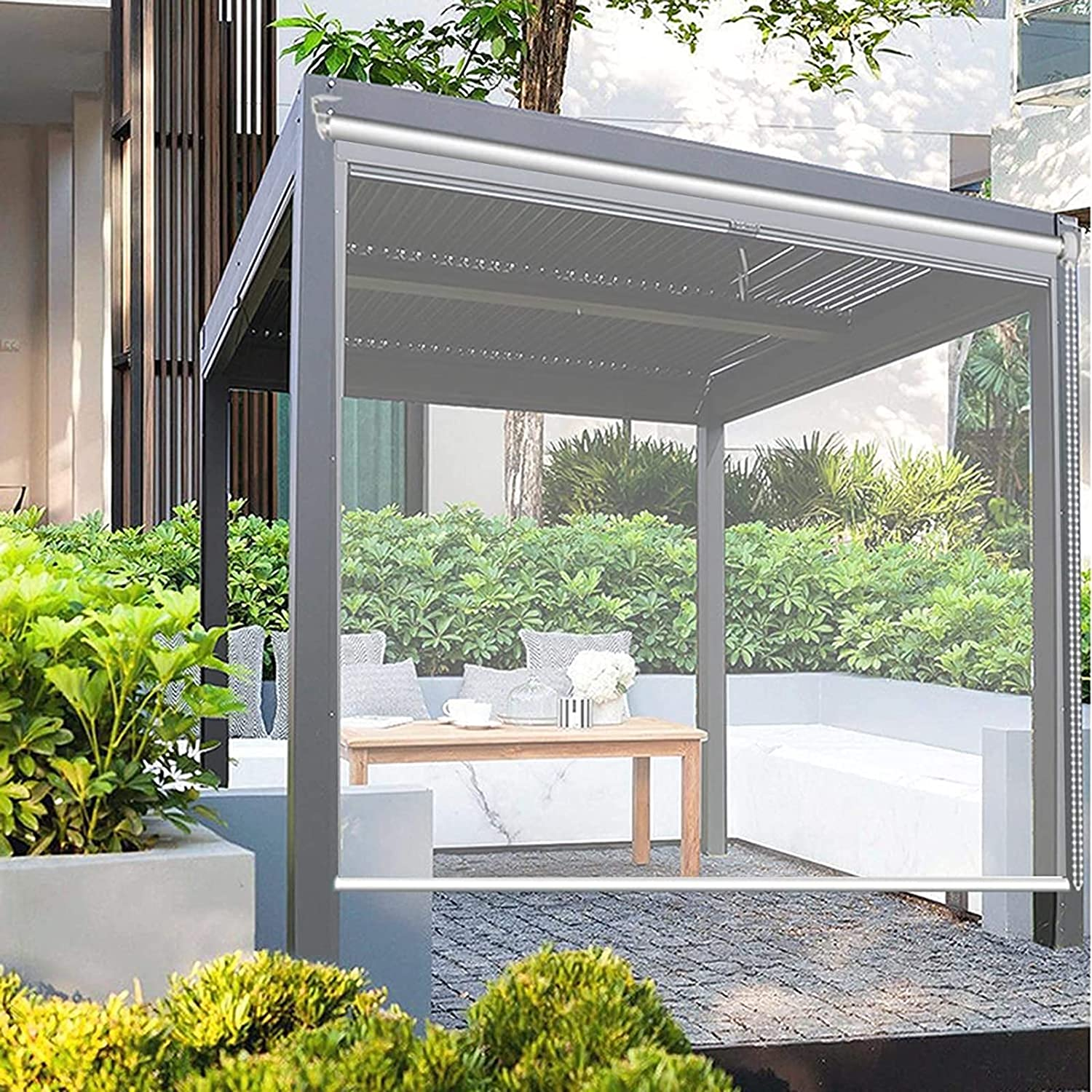 Clear Brand Cheap Sale Venue Roller Shades for Outdoors 160cm 140 Waterproof Wide discount 150