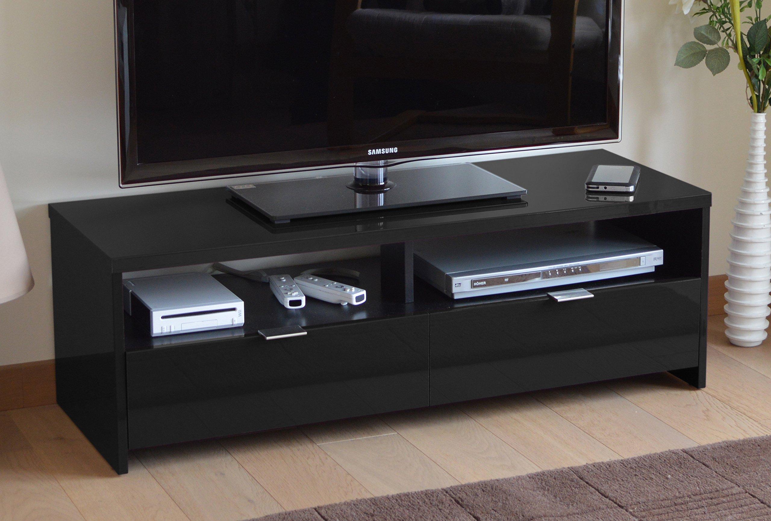 Berlioz Banco - Mueble para TV (aglomerado de Madera), Color Negro ...