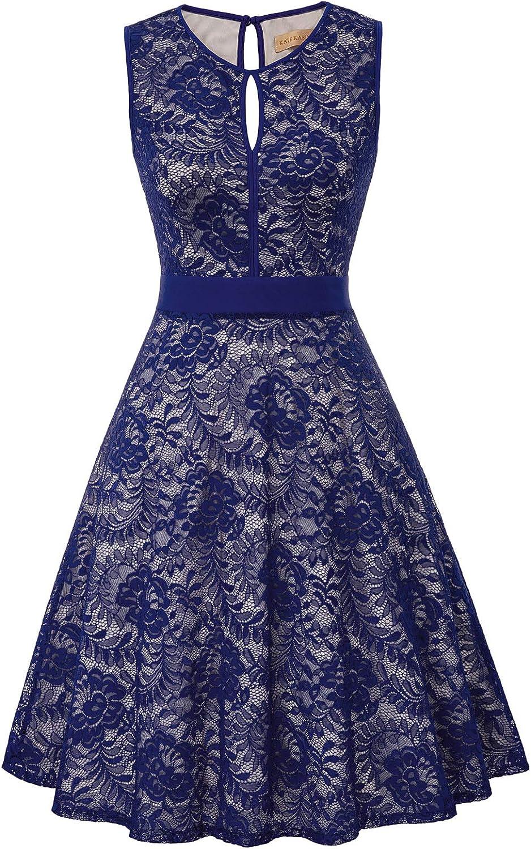Kate Kasin Lace Halter Sleeveless A-Line Keyhole Wedding Party Formal Dress