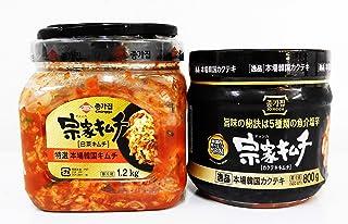宗家 白菜キムチ1.2kg &ダイコンキムチ(カクテキ)800gセット 本場韓国