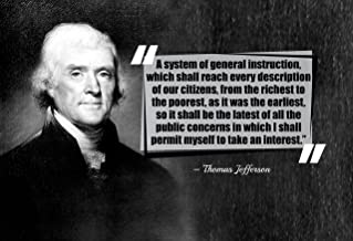 WeSellPhotos Thomas Jefferson A System Poster, Print, Picture or Framed Photograph (13x19 Unframed Poster)