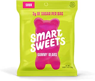 SmartSweets Low Sugar Gummy Bears Candy, Seriously Sour, Free of Sugar Alcohols & No Artificial Sweeteners, Sweetened With...
