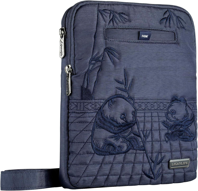 LIGANLIFE Crossbody Bag iPad Bag Crossbody Purse Identity Theft RFID Predection