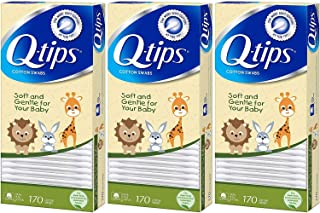 Q-tips Cotton Swabs, Baby 170.0ea (pack of 3)