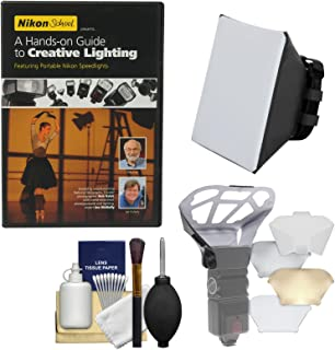 Nikon School - A Hands-on Guide to Creative Lighting DVD & Soft Box + Diffuser Bouncer + Kit for SB-700 & SB-910 AF Speedlight Flashes