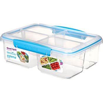 quadratisch 14.5 x 15 x 9.5 cm blau // gr/ün plastik Sistema Lunchbox