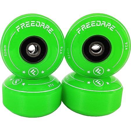 Keecaan 52mm Skateboard Wheels with ABEC-11 Bearings Pack of 4 Skateboard All-in-One Multi Function Tool and Spacers Cruiser Wheels