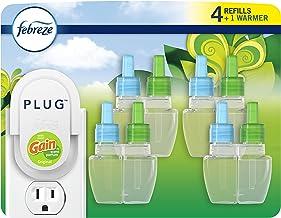 Febreze Odor-eliminating Plug Air Freshener, Gain Original, 1 Warmer + 4 Oil Refills