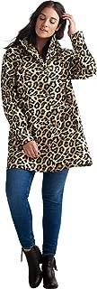 Women's Plus Size Animal Print Hooded Raincoat