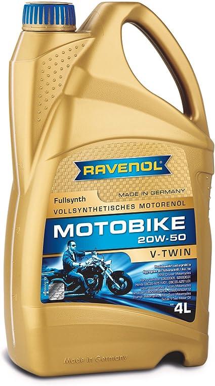Ravenol Motobike V Twin Sae 20w 50 20w50 Vollsynthetisch 4 Liter Auto