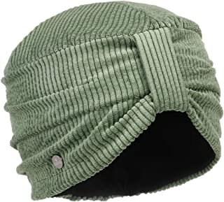 Lierys Turbante a Coste Donna - Made in Italy con Fodera Autunno/Inverno