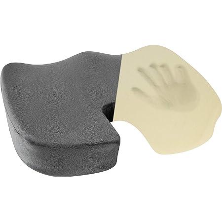 Healthy Spirit Memory Foam Seat Cushion | Tailbone Relief Cushion Office Chair Car Seat Cushion Sciatica Back Pain, Gray