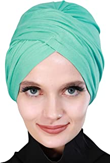 Instant Turban Cotton Scarf Head Wrap Lightweight Chemo Headwear Cancer Cap