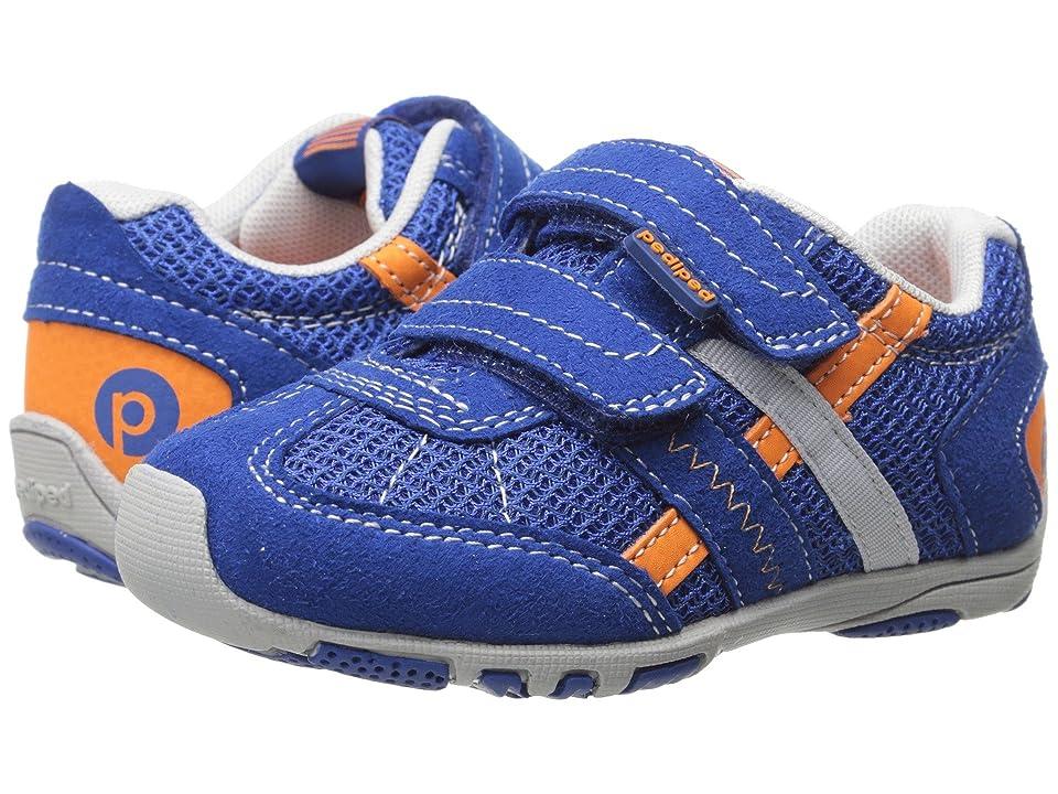 pediped Gehrig Flex (Toddler/Little Kid) (Night Blue/Orange) Boys Shoes