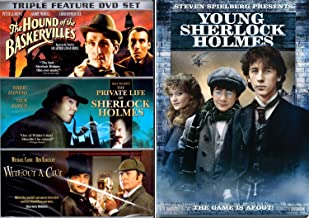 Young Sherlock Holmes DVD + Set - 3 Films without a clue, Private Life, Hounds of Baskerville DVD Mystery Set