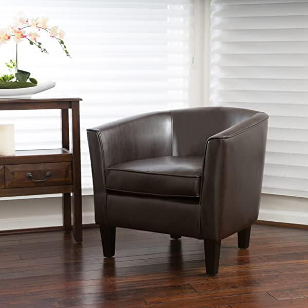 Christopher Knight Home 296109 Aiden Arm Chair Brown Brown