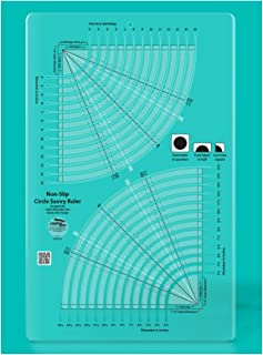 Creative Grids Circle Savvy 11-3/4in x 18-1/2in Quilt Ruler