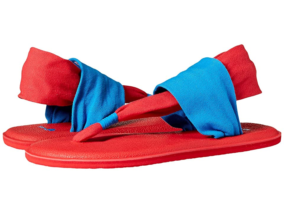 Sanuk Kids Yoga Sling Burst Duo (Little Kid/Big Kid) (Blue/Red) Girl