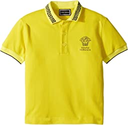 Versace Kids - Short Sleeve Polo with Logo (Toddler/Little Kids)