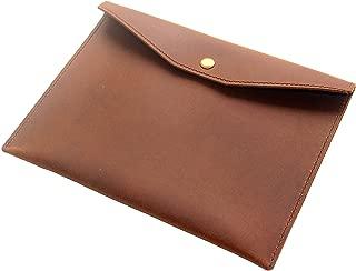 Genuine Leather Envelope Folder, A5 Size Papers Documents Holder, Handmade Portfolio Work Essential, Business Gift, Brown