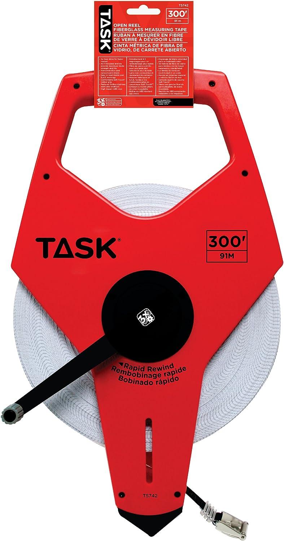 Task Minneapolis Mall Tools TS742 300-Feet 35% OFF Open with Tape Measure Reel Fiberglass