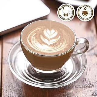 OCEAN CAFFE LATTE CUP & SAUCER set 260 milliliter 6 piece set