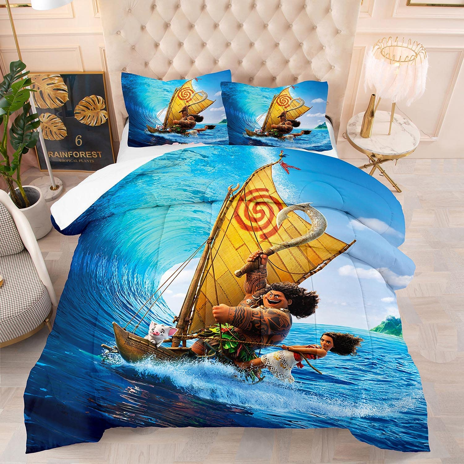 Moana Comforter Set King Size Cartoon Sets G Regular store for Quilted Bedding List price