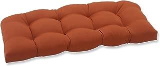 burnt orange sofa and loveseat