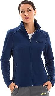 Clothin Women's Full Zip Lightweight Polar Fleece Jacket with Pockets Stand Collar