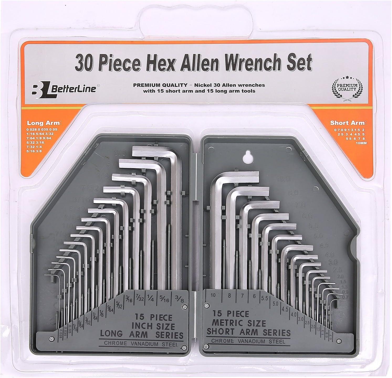 Heavy Duty 30-Piece Hex Allen Key Wrench Set Long Arm 15 - Outlet sale feature Award-winning store Inch