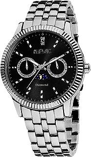August Steiner Men's Swiss Quartz Analogue Display Diamond Bracelet Watch