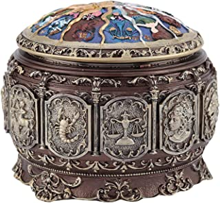 Musical Box, Vintage Musical Box, Twinkling LED Light 10 * 12cm / 3.94 * 4.72in Classic Music Box, for Christmas(Taurus)