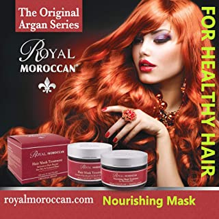 Royal Moroccan Formula - Nourishing Mask Treatment (250 ml) Base of Moroccan Argan oil, For color – Treated Hair, Frizzy Hair.