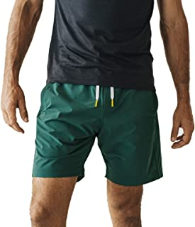 OLIVERS Apparel, Mens Water Repellent, 4-Way Stretch, All Over Short. Perfect Running, Yoga Weightlifting