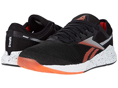 Reebok Nano 9 (Black/White/Vivid Orange) Men