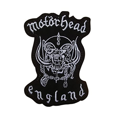 4c3cca426a330 MOTORHEAD Iron On Patch Fabric Applique Motif Rock Band Punk Metal Decal  4.6 x 3.1 inches